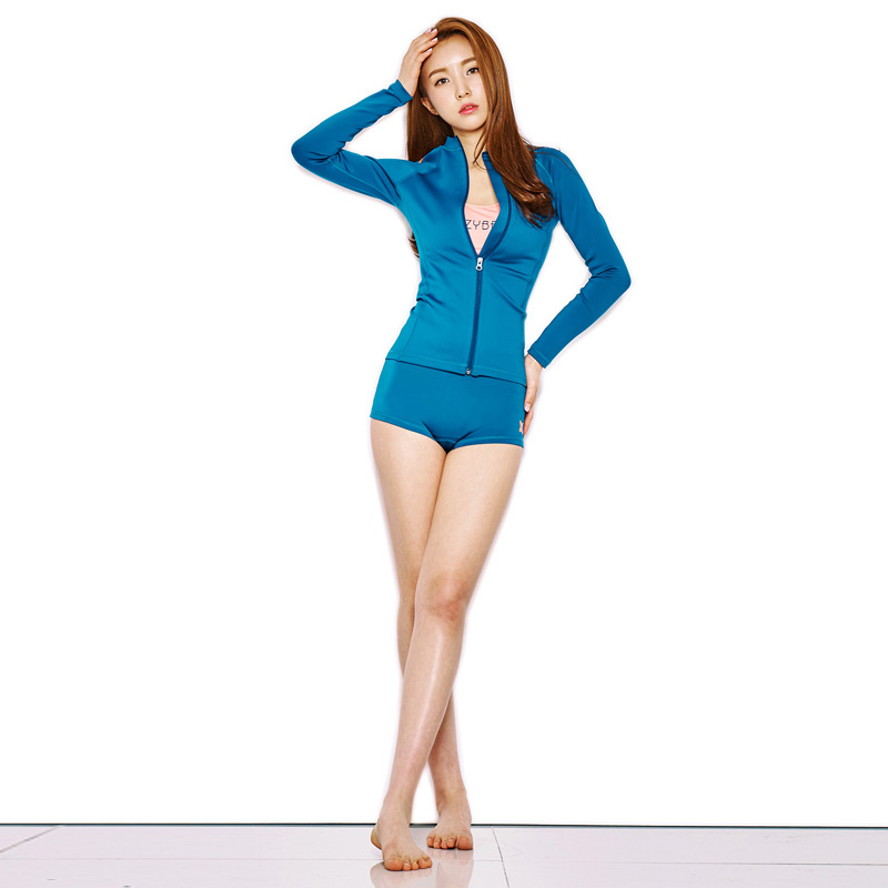 레이지비 Neoflex 1401 1mm Woman Zip Up Cyan