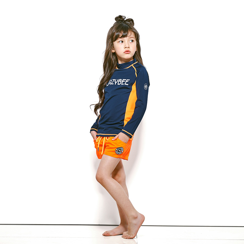 [LAZYBEE] OXO Kids girl Swim Pants - N.Orange  레이지비 아동용 비치바지