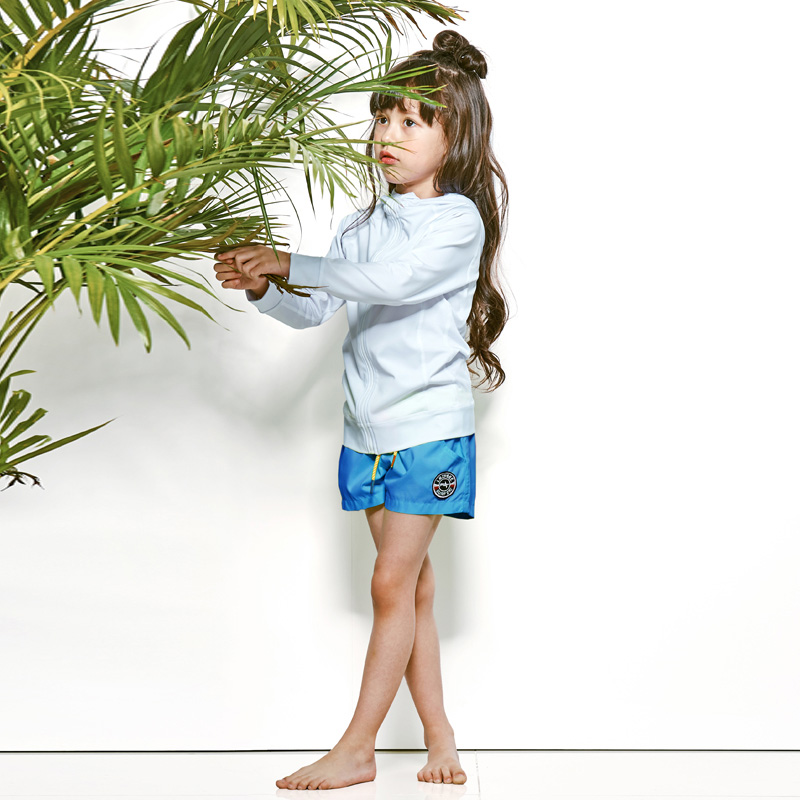 [LAZYBEE] OXO Kids girl Swim Pants - A.Blue 레이지비 아동용 비치바지