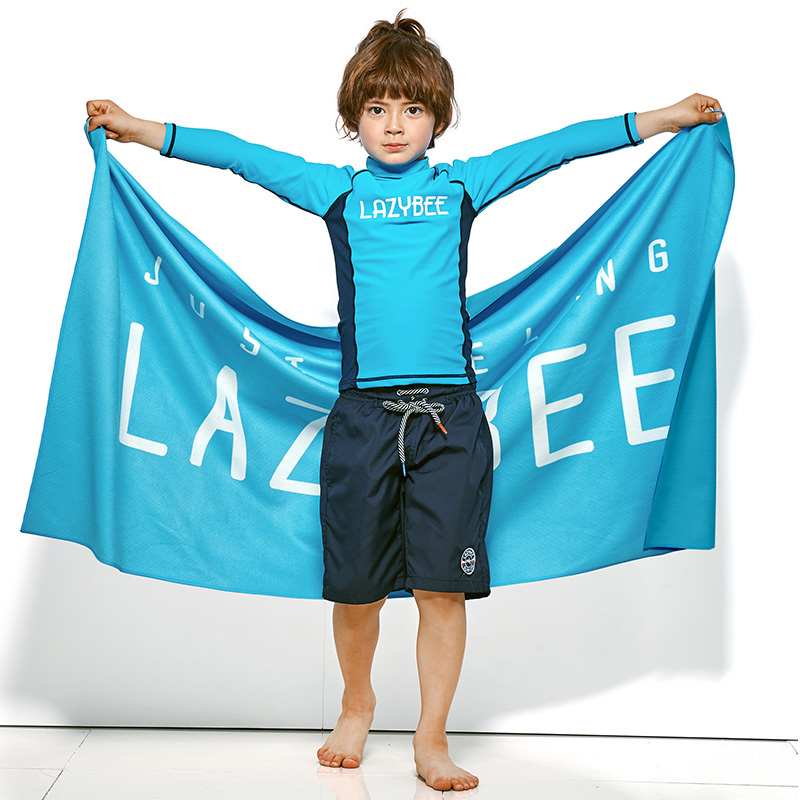 [LAZYBEE] OXO kids boy Swim Pants - Navy 레이지비 아동용 비치바지